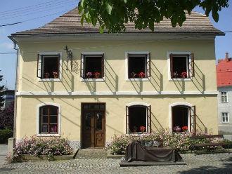 La vista esterna della Casa natale di Sigmund Freud a Příbor