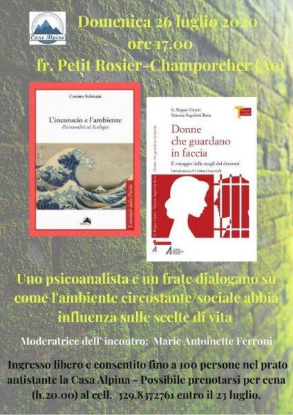 """""""L'inconscio e l'ambiente""""di C. Schinaia. Fr. Petit Rosier-Champorcher (Ao), 26/07/20"""