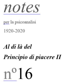 Notes per la psicoanalisi,  Alpes 6
