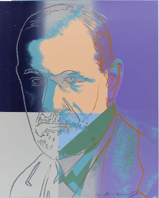 SIGMUND FREUD, ANDY WARHOL, 1980, MUSEUM OF CONTEMPORARY ART, CHICAGO