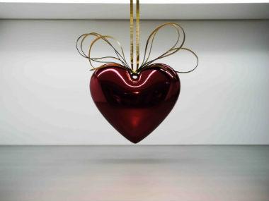 Jeff Koons, Hanging Heart – 1995