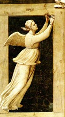 La Speranza (Spes) di Giotto 1306