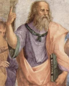 Scuola di Atene di Raffaello_ particolare di Platone